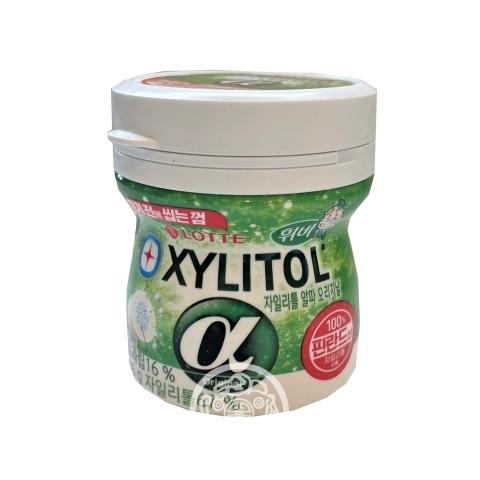 Жевательная резинка Xylitole Alpha Original с гранулами Фруктов и Ментола без сахара 86г Lotte Корея