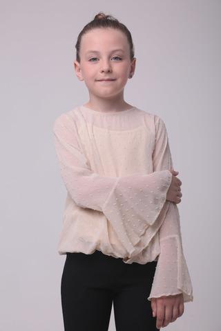 Блуза для девочки шифон + майка TJS Турция, 1153 (134-152)