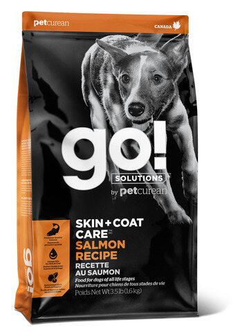 купить гоу GO! SKIN + COAT Salmon Recipe DF сухой корм для щенков и собак всех пород со свежим лососем и овсянкой