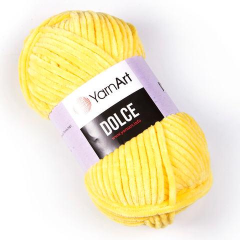 Пряжа Dolce (Дольче), Цвет: Желтый. Артикул: 761