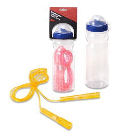 Скакалка в комплекте с бутылочкой для воды
