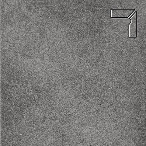 Interbau - Alpen, Anthrazit/Антрацит, цвет 058 - Клинкерный плинтус ступени правый, 3 части