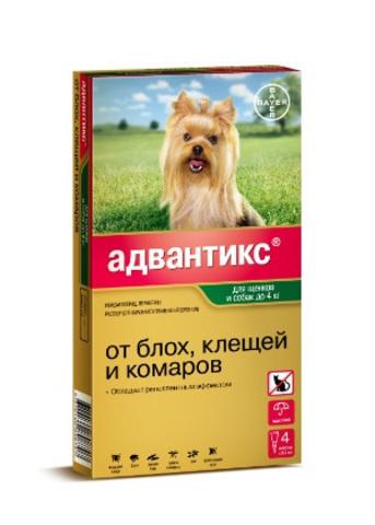 Адвантикс для щенков и собак до 4кг