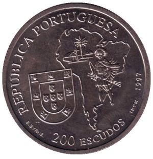 200 эскудо Португалия. Мессионер Жозе ди Аншиета. 1997 год. UNC