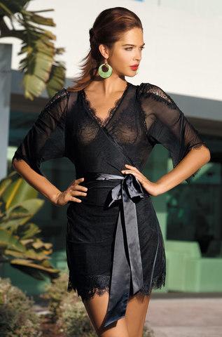 Халат черный женский 2009