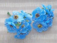 Букет цветов Дикий мак голубой