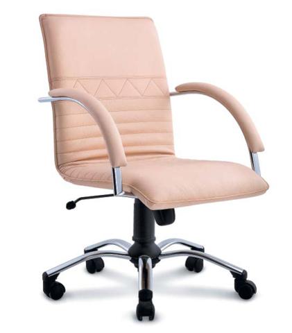 Стул-кресло для персонала на роликовой опоре Синди D80 - фото
