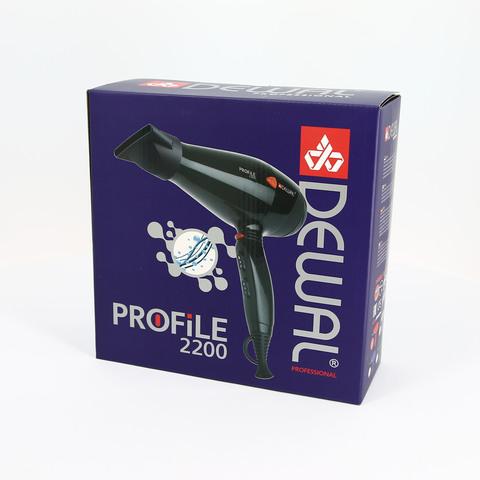 Фен Dewal Profile, 2200 Вт, ионизация, 2 насадки, красный