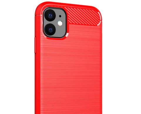 Чехол Carbon для iPhone 11 серия Карбон | красный