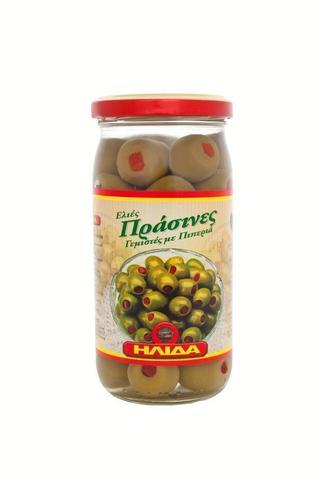 Зеленые оливки фаршированные перцем в рассоле Ilida 350 гр