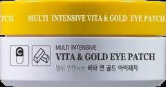 HANIxHANI Гидрогелевые патчи для глаз с витаминами и коллоидным золотом Multi Intensive Vita & Gold Eye Patch  60шт