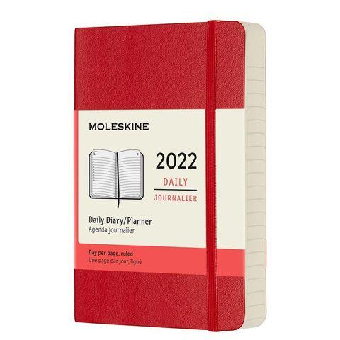 Ежедневник Moleskine (DSF212DC2) Classic Soft Pocket 90x140мм 400стр. мягкая обложка красный