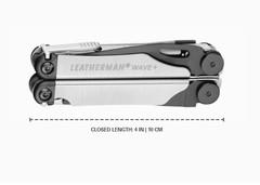 Мультитул Leatherman Wave Plus Black & Silver, нейлоновый чехол, 18 функций (832622) цвет чёрно-серебристый | Multitool-Leatherman.Ru