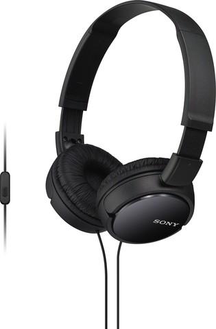 MDR-ZX110APB наушники Sony с микрофоном, черные