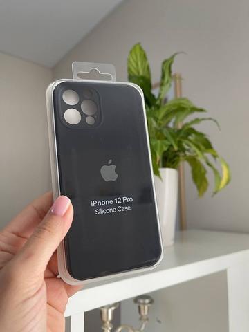 iPhone 12 (6.1) Silicone Case Full Camera /black/