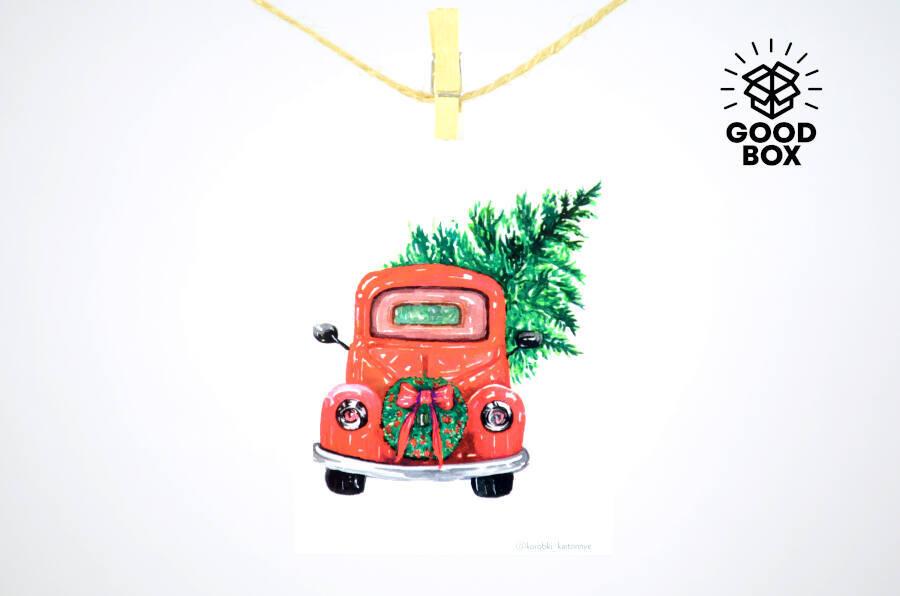 Новогодние открытки на любой вкус недорого в Алматы