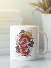 Кружка с изображением Дракон (Dragon) белая 007
