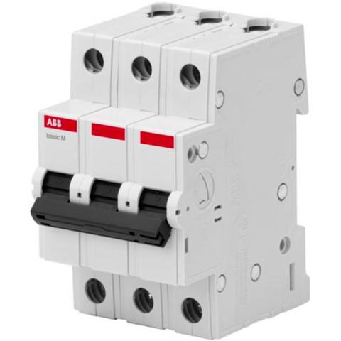 Автоматический выключатель 3-полюсный 50 A, тип C, 4,5 кА  BMS413C50. ABB. 2CDS643041R0504