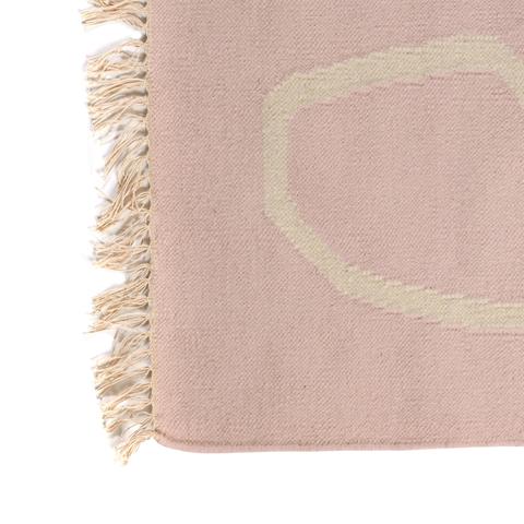 Ковер ручной работы из шерсти и хлопка Poetry and steps цвета пыльной розы, 160х230 см
