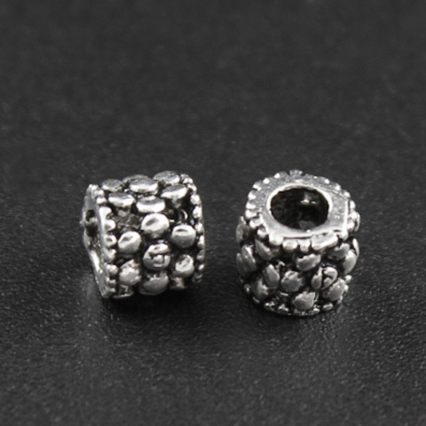 Рондель разделитель Точечки 4,5х5 мм серебро 925