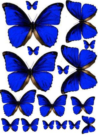 Печать на сахарной бумаге, Набор Бабочки 10