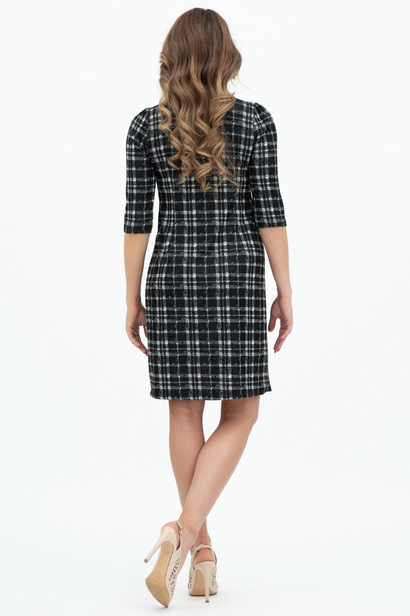 Платье для беременных 07901 черный в клетку