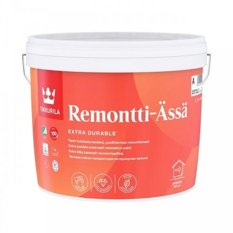 Tikkurila Remontti Assa/Тиккурила Ремонтти Ясся моющаяся акрилатная краска для стен и потолков