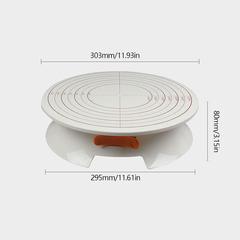Стол поворотный с фиксатором и разметкой, D30 H8 см пластик