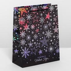 Пакет голография вертикальный «Волшебного Нового года», MS 18 × 23 × 8 см, 1 шт.
