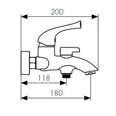Смеситель KAISER Comba 48022-1 Bronze для ванны схема