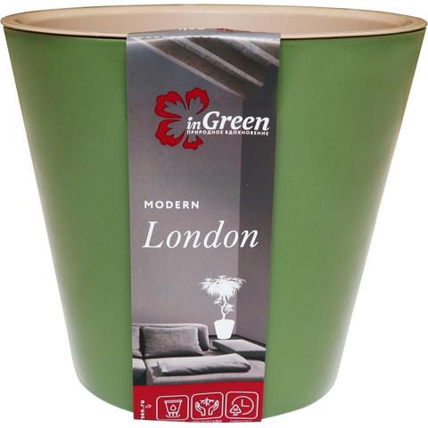 Горшок для цветов London 230 мм, 5л оливковый ING6206ОЛ