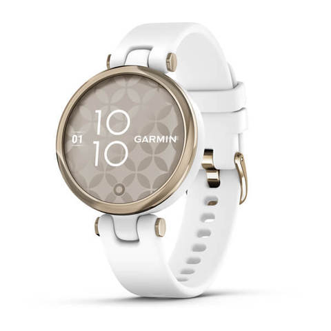 Garmin Lily Sport - Cream Gold Bezel with White Case and Silicone Band