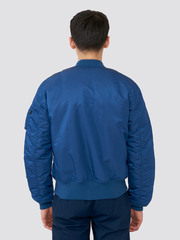 Бомбер Alpha Industries MA-1 Slim Fit Blue №9/Orange (Синий/Оранжевый)
