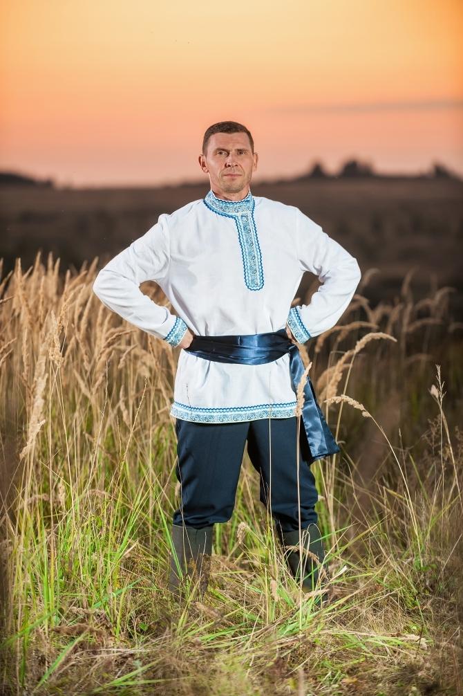 Мужской русский костюм Русское поле с поясом