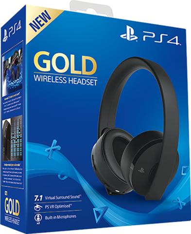 Гарнитура беспроводная PlayStation Gold Stereo Headset Black 2.0 (PS4, черная, CUHYA-0080: SCEE)