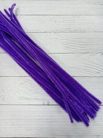 Проволока синельная, цвет фиолетовый, размер 30см, 30шт