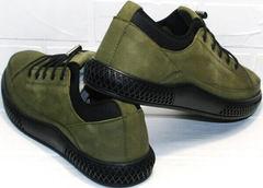 Городские кроссовки туфли мужские спортивные Luciano Bellini C2801 Nb Khaki.