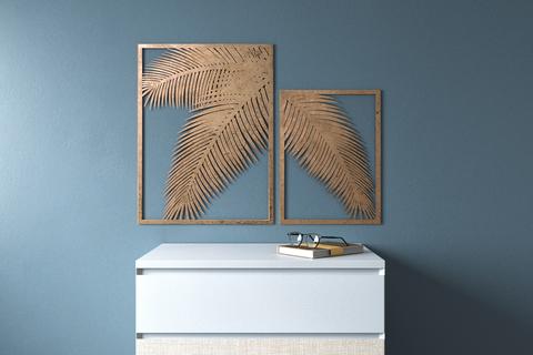 Набор картин Gold Palm