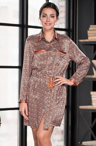 Удлинненная блузка-платье Mia-Amore 3367 SANDRA (70% шелк)