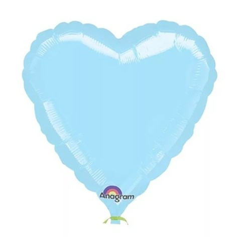 Сердце Пастель, Голубой (46 см)