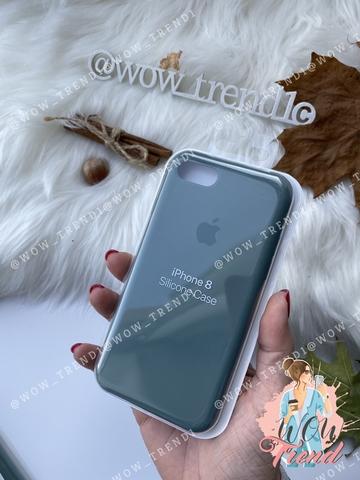 Чехол iPhone 7/8 Silicone Case /pine green/ сосновый лес 1:1