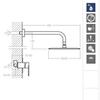 Встраиваемый смеситель для душа с душевым комплектом ALEXIA K3618012NC никель, на 1 выход - фото №3