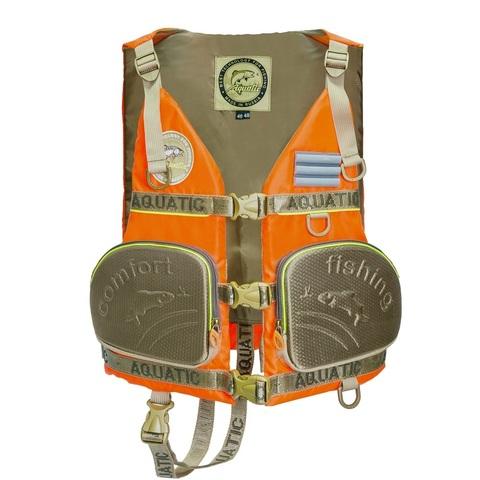 Жилет страховочный Aquatic ЖС-03О, размер 48-50, оранжевый