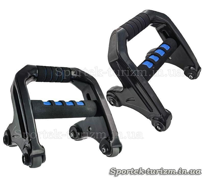Тренажер 3 в 1 ABS Roller Mashine: упори, кистьовий еспандер, колесо для преса (MS 2743)