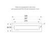 Рамка для встраиваемого монтажа TWT9001B автономных эвакуационных аварийных светильников серии ESC-90