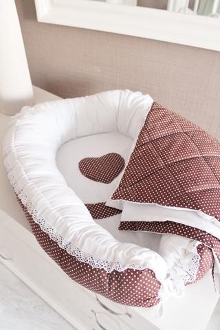 Комплект Babynest + одеяло Горошинка