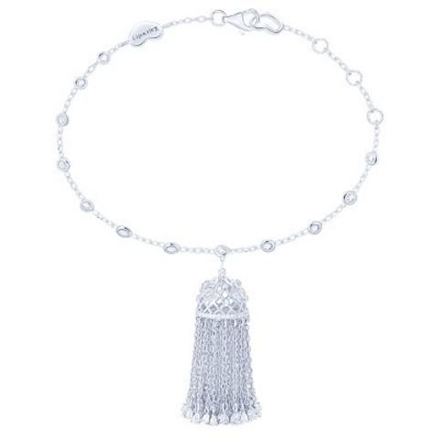 4823 - Браслет Tassel с подвеской кисточкой из серебра