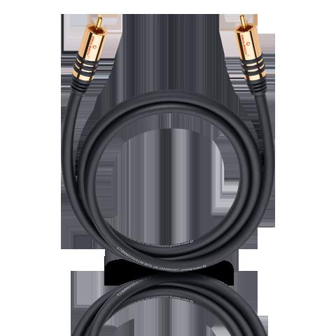 Oehlbach NF Sub black 3.0m, кабель сабвуферный (#21533)