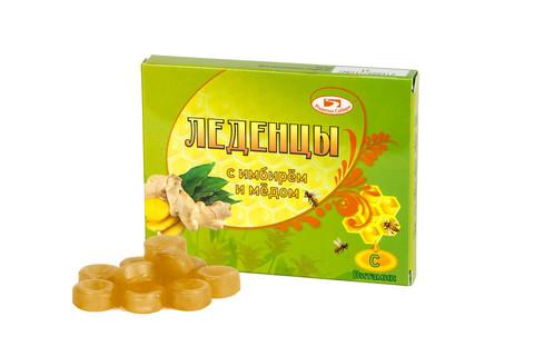 Леденцы с имбирем и медом без сахара