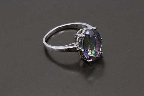 Серебряное кольцо с мистик аметистом 1405937225